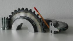 Koło łańcuchowe 16B-1 dzielone hartowane zęby producent
